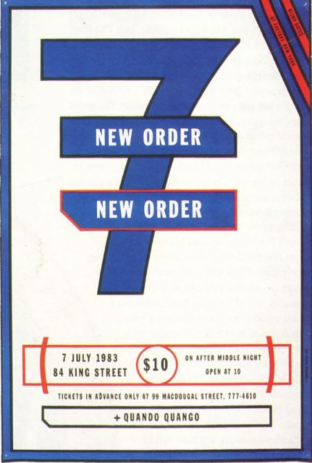 New Order Live in New York, 7 July 1983