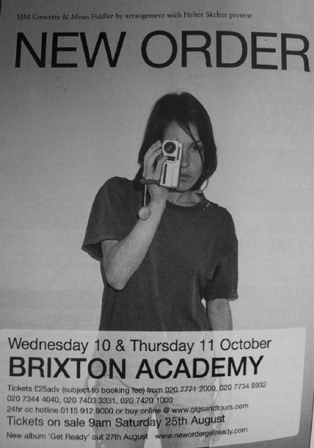 Advertisement in Time Out magazine for New Order live at Brixton Academy on 10/11 October 2001