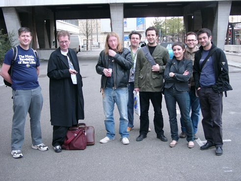 Nuits Sonores 2005; John Cooper, Tony Wilson, Matt Carroll and the Nuits Sonores team
