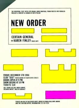 (OFNY) NEW ORDER Club 1018