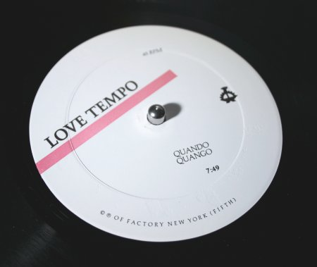 OFNY 5 Love Tempo; a-side label detail