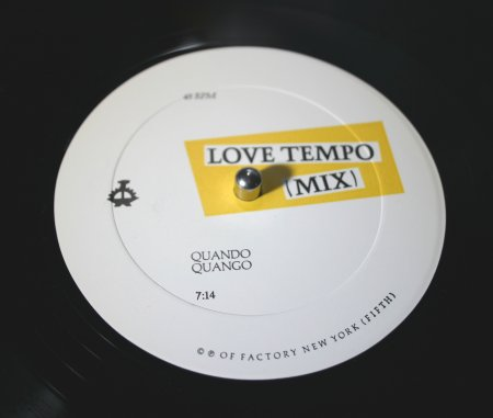 OFNY 5 Love Tempo; b-side label detail