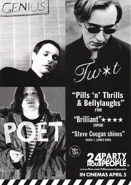 24 Hour Party People - advertisement in Time Out magazine, 26 March 2002
