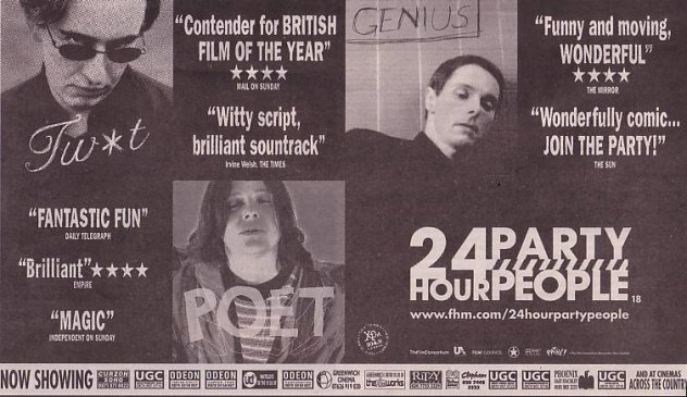 24 Hour Party People - advertisement in The Guardian, 12 April 2002