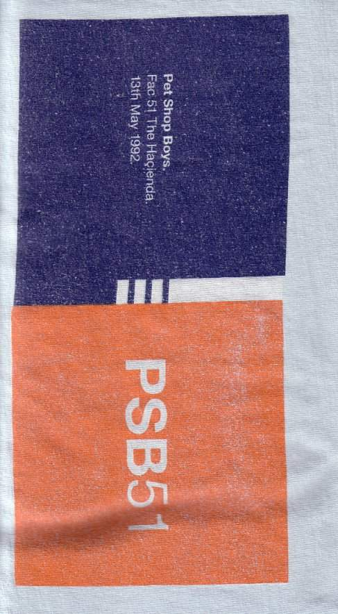 PSB51 T-Shirt from show at FAC 51 The Hacienda