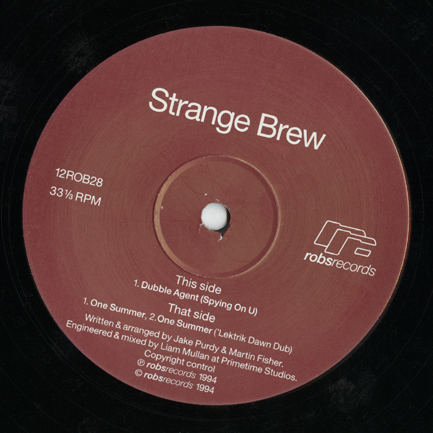 12ROB28 Strange Brew; generic record label for Robsrecords A side
