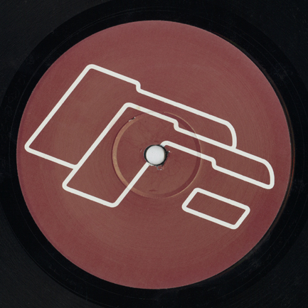Generic record label for Robsrecords B side using Mark Farrow designed logotype