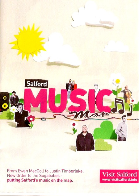 Salford Music Map; front cover detail