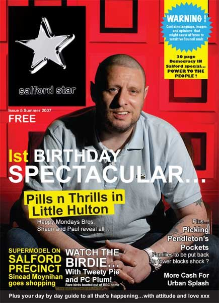 Salford Star Issue 5 Summer 2007; front cover detail