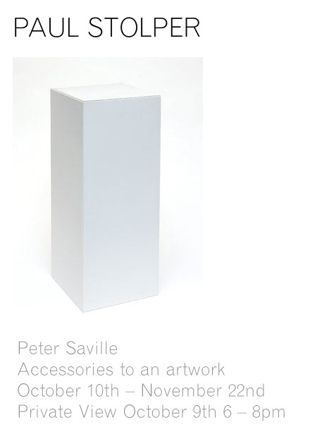 Peter Saville: Accessories To An Artwork - Paul Stolper Gallery; Private View 9 October 2008