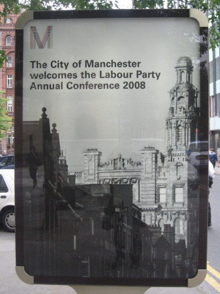 Peter Saville - City of Manchester welcomes Labour Party Annual Conference 2008