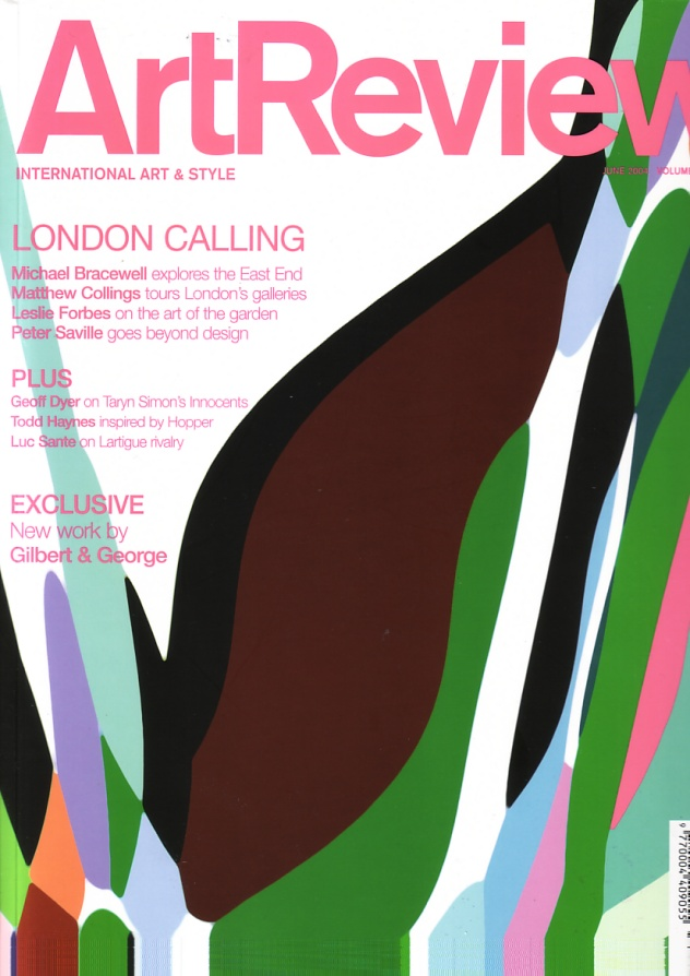 ArtReview June 2004: Peter Saville goes beyond design; front cover detail featuring Saville's Waste Painting #10
