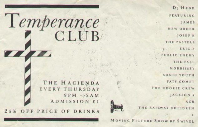 Temperance Club flyer