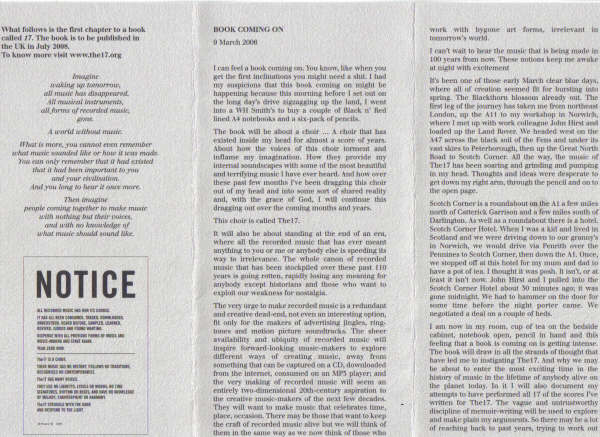 Réification: Making the abstract, concrete - The Tony Wilson Experience - event pamphlet [2 of 3]