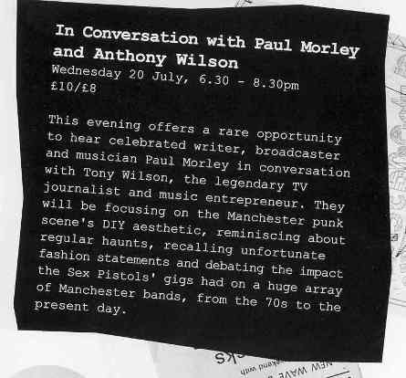 Punk: SEX, Seditionaries and The Sex Pistols, 26 May - 11 September 2005 @ Urbis; events flyer detail [3]