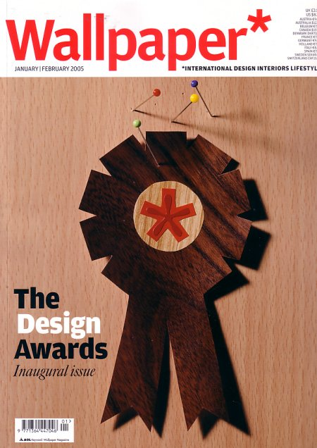 Wallpaper* The Design Awards Inaugural Issue; front cover detail