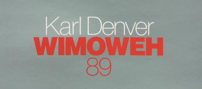 Karl Denver - Wimoweh 89 front cover detail