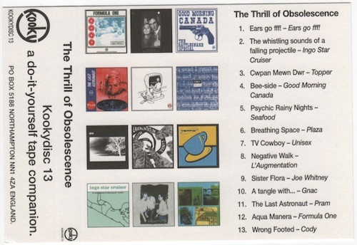 The Thrill of Obsolescence compilation tape cover